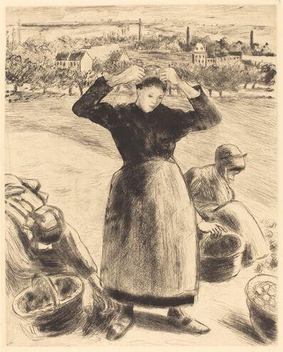 Camille Pissarro, 'Gathering Potatoes (Recolte de pommes de terre)', 1886