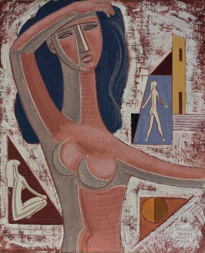 Mario Tozzi, 'IL BRACCIO SULLA FRONTE', 1969