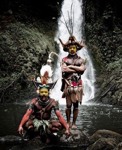 Jimmy Nelson, 'XV 465 - Huli Wig men - Ambua Falls, Tari Valley - Papua New Guinea', 2010