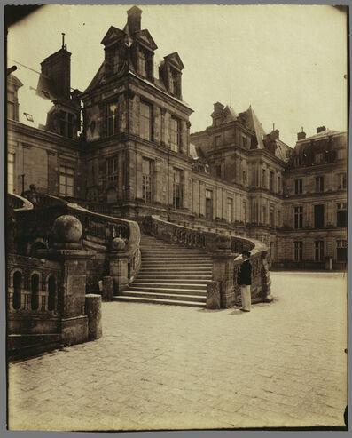 Eugène Atget, 'Fountainebleau - Cour des Adieux', 1903
