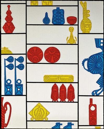 Helen Rebekah Garber, 'Shelves/Selves IV (After Mondrian), 2014', 2014