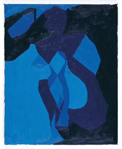 Chris Ofili, 'Nude Study in Blue', 2006
