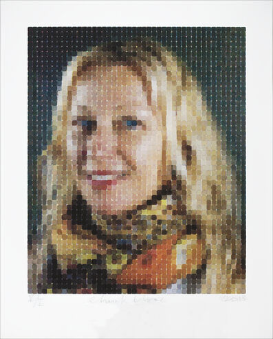 Chuck Close, 'Cindy (Smile)', 2013