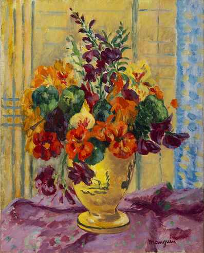 Henri Manguin, 'Capucines, vase jaune', 1944