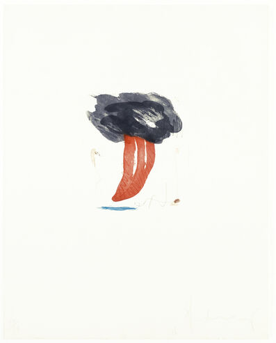 Claes Oldenburg, 'Study for Tongue Cloud', 1976