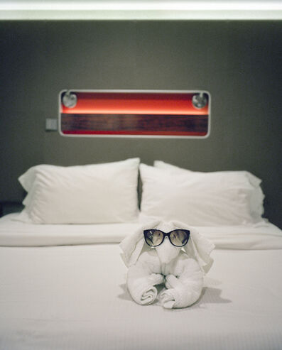 """Anna Beeke, '30 28'24.3""""N 78 28'01.4""""W (Towel Friend)', 2014"""