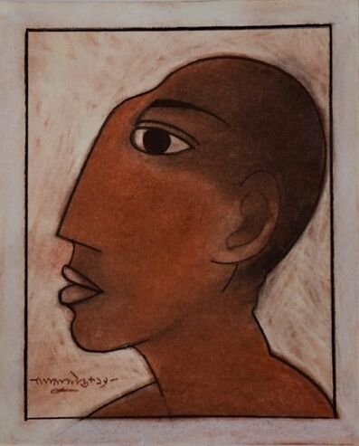 """Lalu Prasad Shaw, 'Untitled, Crayon on Board by Modern Indian Artist """"In Stock""""', 2019"""