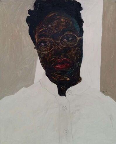 Amoako Boafo, 'Frances Bodomo I', 2018