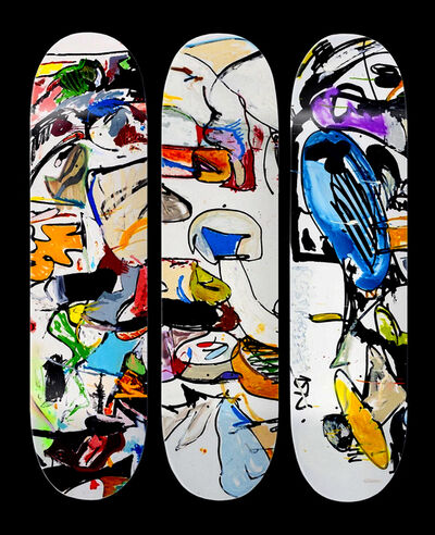 Eddie Martinez, 'Set Of Three Skate Decks', 2016