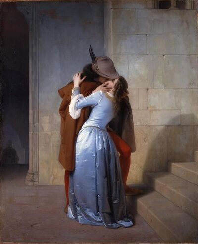 Francesco Hayez, 'The Kiss', 1859