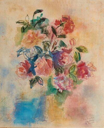 Jean Dufy, 'Bouquet de rose dans un vase', 1925
