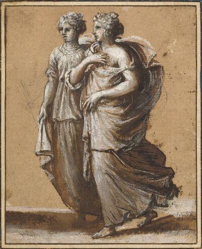 Claude Lorrain, 'Two Women in Classical Dress', mid-1640s