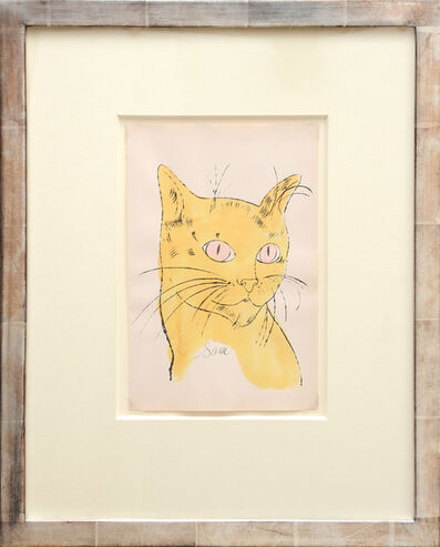 Andy Warhol, 'Sam [Portrait of yellow cat with pink eyes]', 1954