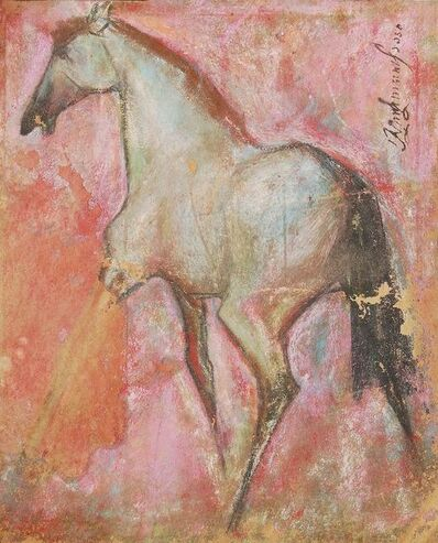 "Sunil Das, 'Horse II, Pastel on Sand Paper by Padma Shree Artist Sunil Das ""In STock""', 1950"