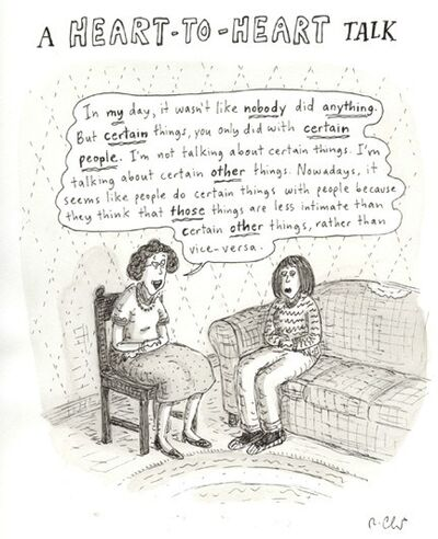 Roz Chast, 'A heart to heart talk', 2007