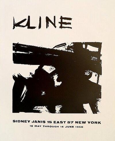 Franz Kline, 'KLINE (Sidney Janis Gallery)', 1958