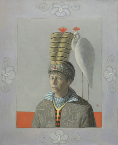 Olga Antonova, 'Self Portrait with White Crane', 2019