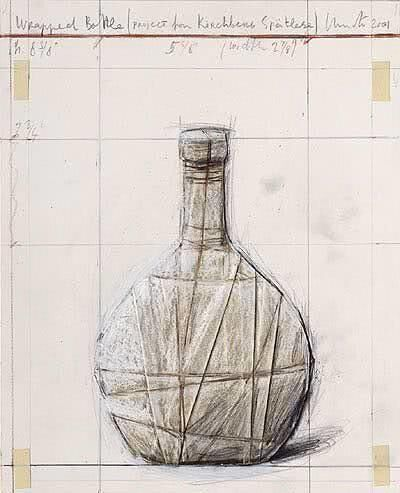 Christo, 'Wrapped Bottle, Project for Kirchberg Stätlese, 2007', 2007