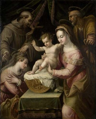 Lavinia Fontana, 'Holy Family with Saints Margaret and Francis', 1578