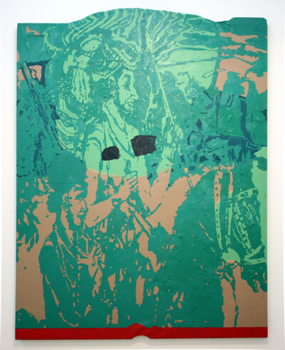 Firoz Mahmud, 'Majestic cut (green)', 2008