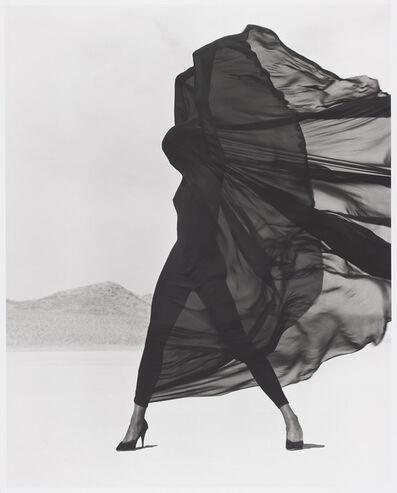 Herb Ritts, 'Versace Veiled Dress, El Mirage', 1990