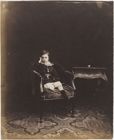Roger Fenton, 'Portrait of Prince Alfred', 1854