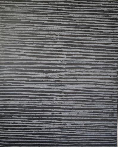Tineke Porck, 'Horizontal chalk lines', 2013.2017