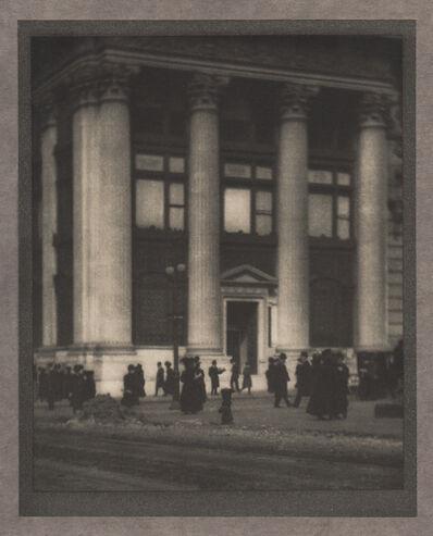 Alvin Langdon Coburn, 'The Knickerbocker Trust Company', Neg. date: 1909 c. / Print date:1909