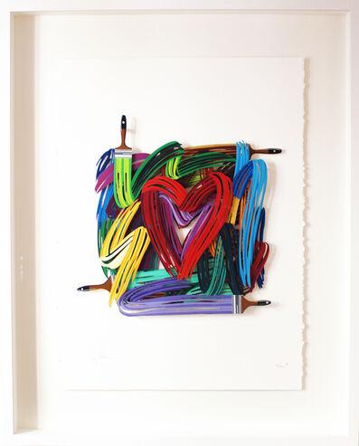 David Gerstein, 'Graffiti Heartist - Paper Cut', 2019