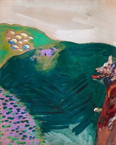 Marc Chagall, 'Le Loup devenu berger (Fables de La Fontaine)', ca. 1927