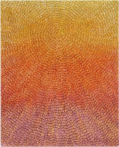 Jennifer Guidi, 'Abundance (Painted Universe Mandala SF #1F, Yellow to Lavender Sunset Gradient, Natural Ground)', 2018