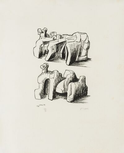 Henry Moore, 'Two Rock Reclining Figures (Cramer 102)', 1967