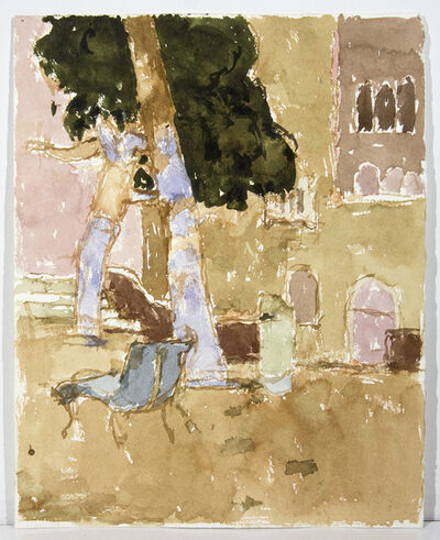 John Fox, 'Campo Dei Gesuiti with Blue Bench', 1994