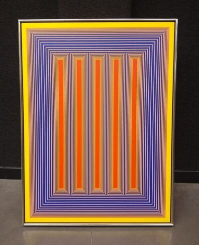 Richard Anuszkiewicz, 'temple of red and yellow', 1983