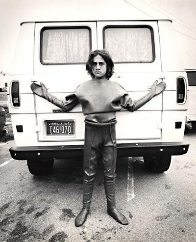 Arthur Tress, 'A Surfer Leans against Her Camper, Virginia Beach, VA', 1972/1972