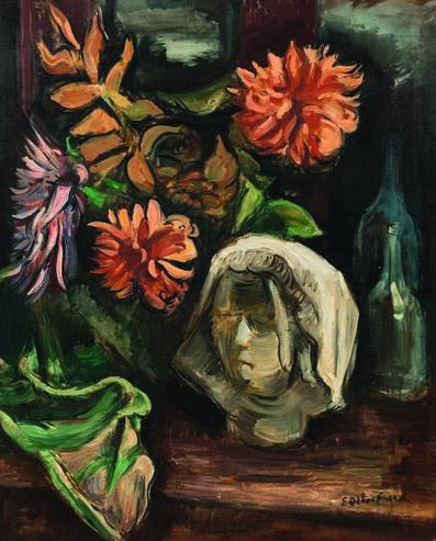 Achille Emile Othon Friesz, 'Nature morte au plâtre et aux dahlias'