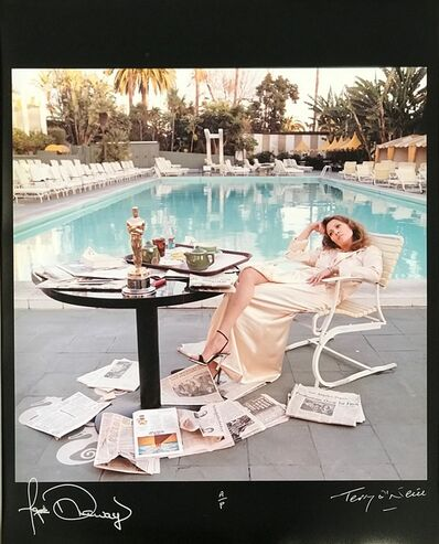 Terry O'Neill, 'Faye Dunaway, Co-signed print', 1977