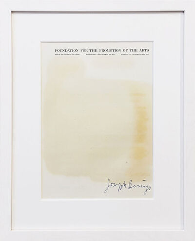 """Joseph Beuys, 'Fettbrief """"Foundation for the promotion of the arts""""', 1975"""