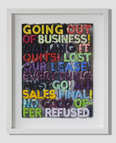 Mel Bochner, 'Going Out of Business', 2012