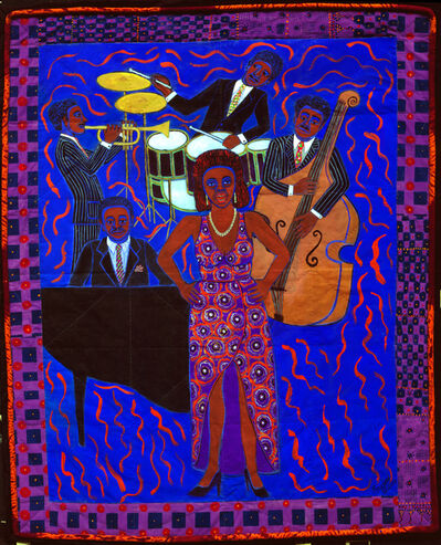 Faith Ringgold, 'Jazz Stories: Mama Can Sing, Papa Can Blow #8: Don't Wanna Love You', 2004