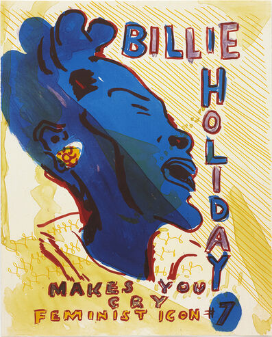 Bob and Roberta Smith, 'Billie Holiday from Feminist Icons', 2011