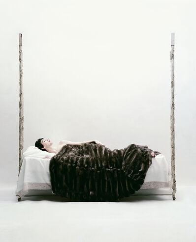 William Helburn, 'Dovima Under a Fur, Corday', 1958
