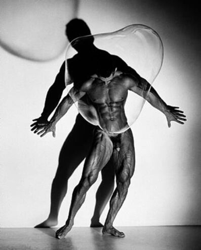 Herb Ritts, 'Male Nude with Bubble, Los Angeles', 1989