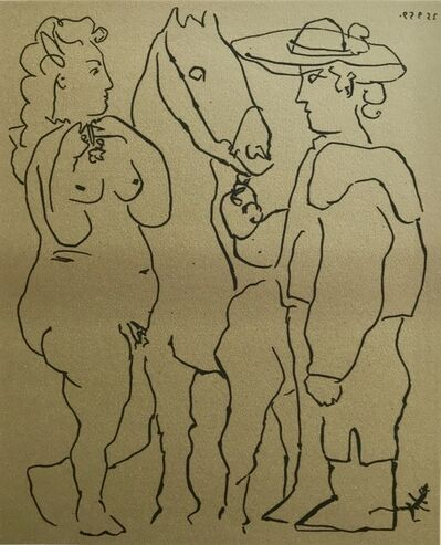 Pablo Picasso, 'Picador Woman and Horse', ca. 1980