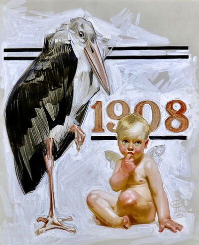 Joseph Christian Leyendecker, 'New Years Baby, Saturday Evening Post Cover, 1907', 1907