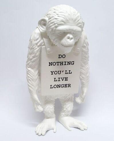 Banksy X Brandalism, 'Do Nothing You'll Live Longer (white)', 2016