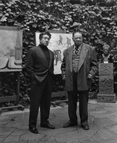 Rodrigo Moya, 'Diego Rivera y D.A. Siquerios, Galeria Emma Hurtado', 1961