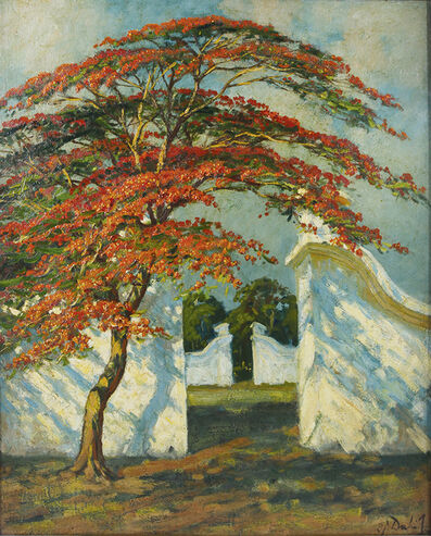 Carel Lodewijk Dake Jr, 'Flamboyant tree in front of Kraton Gate, Jogja'