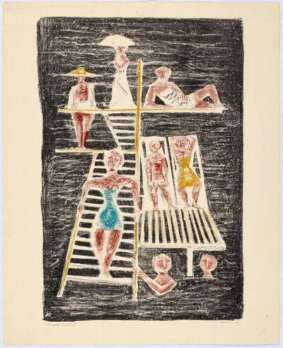 Massimo Campigli, '2 sheets: Non è lecito il pianto Il trampolino', 1944-1954