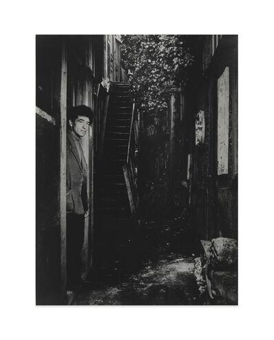 Brassaï, 'Giacometti à la porte de son atelier, rue Hippolyte-Maindron (Giacometti at the door of his studio, Rue Hippolyte-Maindron)', 1947-1948